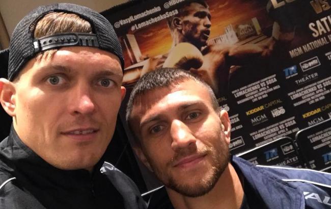 Фото: Усик и Ломаченко (instagram.com/usykaa)