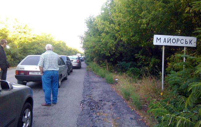 Боевики обстреляли пункт пропуска «Майорск»: вцентре позиций разорвалось две мины