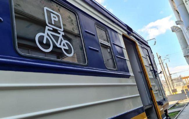 """""""Укрзализныця"""" запускает пригородную электричку с вагонами для перевозки велосипедов"""