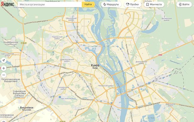 """Скриншот """"Яндекс.Карты"""" (yandex.ua/maps)"""
