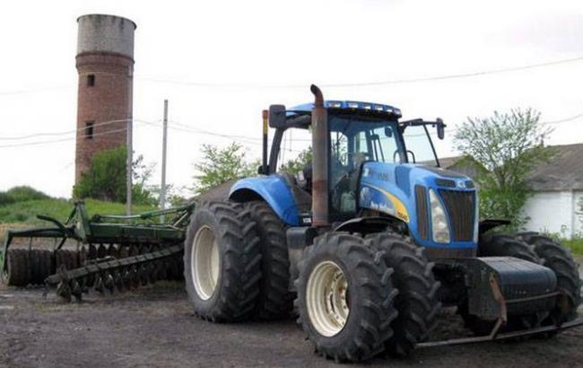 Минет в тракторе