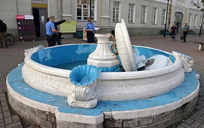 Фото: Разбитый фонтан