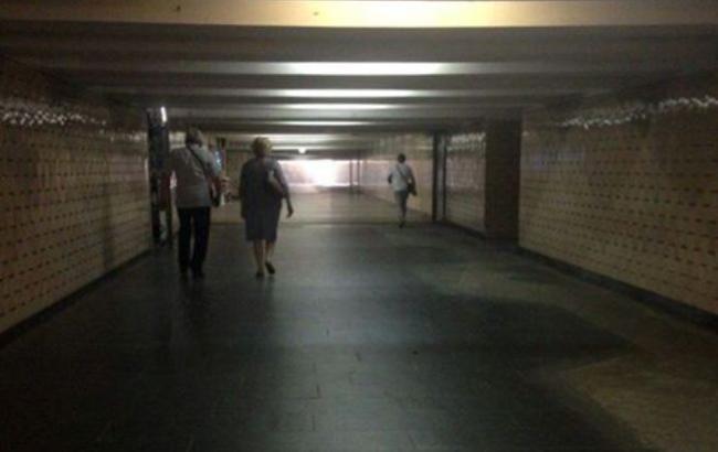 Киевлян восхитила опустевшая станция метро