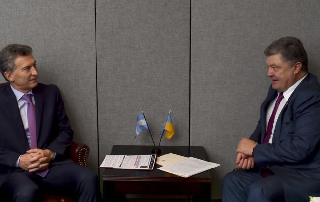 Порошенко провел встречу спрезидентом Аргентины