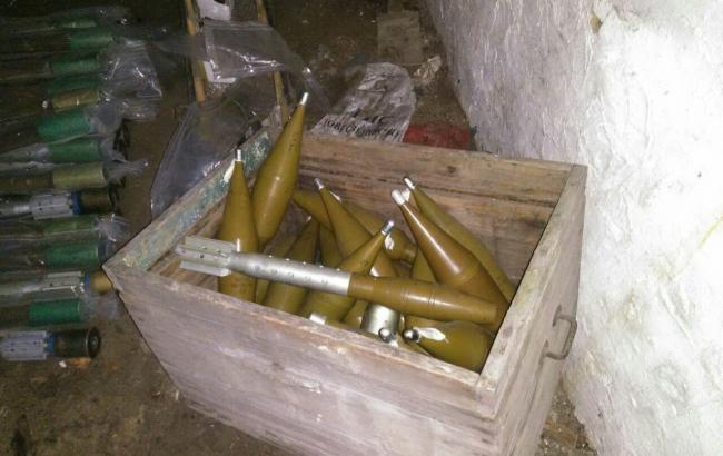 СБУ обнаружила тайник с оружием российского производства в зоне АТО