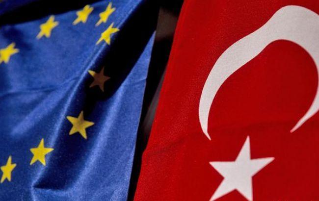 Фото: прапори ЄС і Туреччини