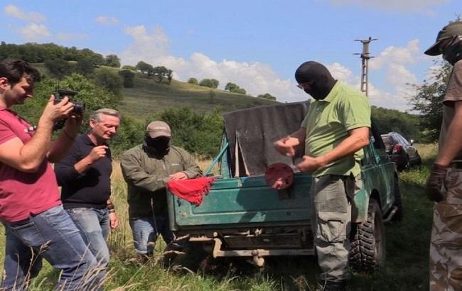 Фото: нелегальная поставка оружия из Украины