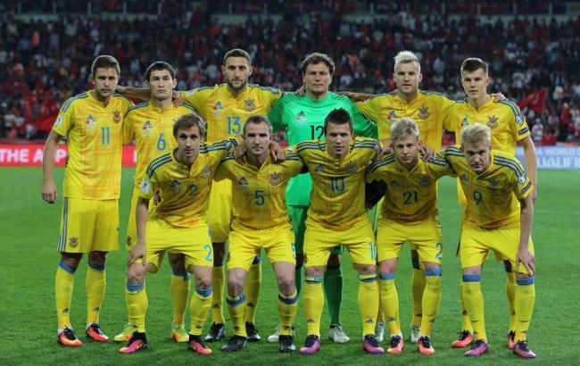 Сборная Украины поднялась на12 позиций врейтинге ФИФА