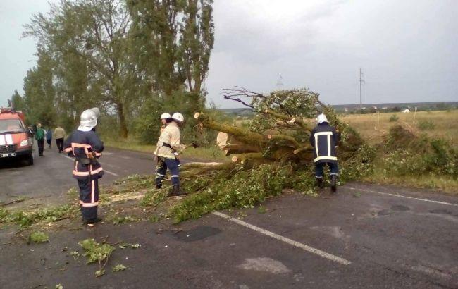 Фото: наслідки негоди в Україні (прес-центр ДСНС)