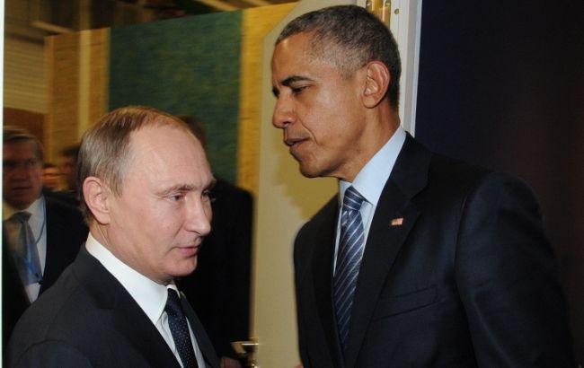 Фото: Барак Обама и Владимир Путин