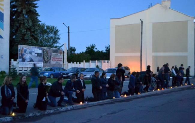 У Львівській області бійця АТО провели в останню путь