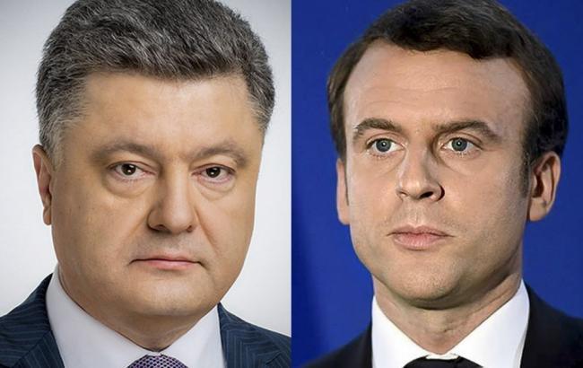 tyzhden.ua Порошенко і Макрон висловилися за активізацію роботи в  нормандському форматі 03e4c724c3c08