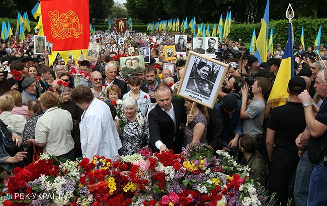 9 травня в Києві: як пройшли масові акції до Дня Перемоги (відео)