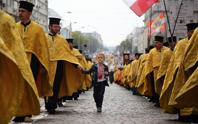 Фото: Крестный ход УПЦ КП 2017 (РБК-Украина)