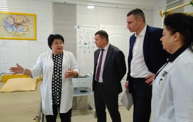 Кличко: впервые за несколько десятилетий родильные дома Киева обеспечены современным оборудованием
