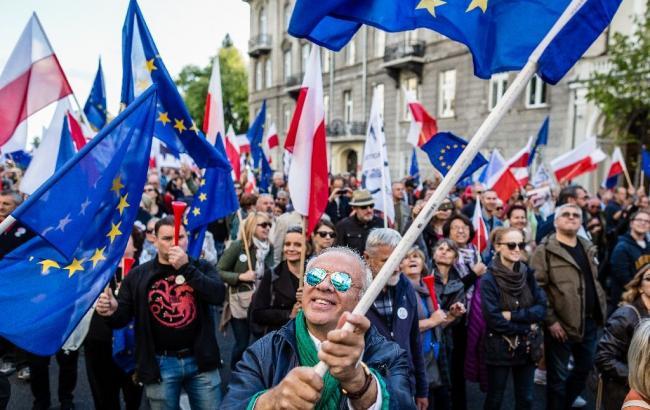 Фото: мітинг у Польщі