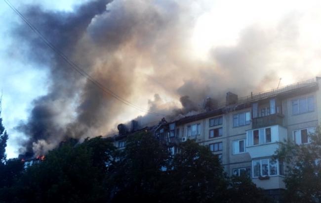 Фото: пожар на Дарнице