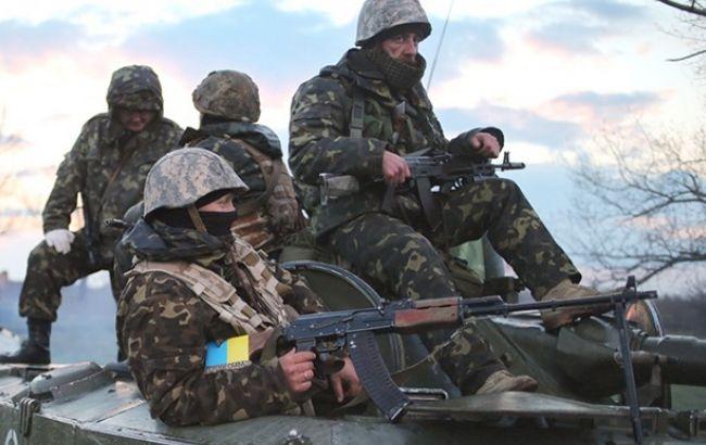 Фото: украинские военные в зоне АТО