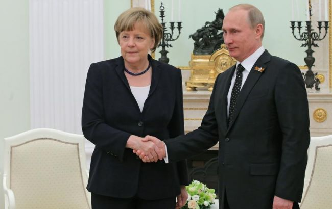 Фото: Володимир Путін і Ангела Меркель