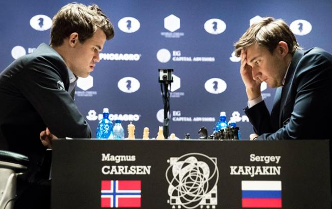 Фото: Карлсен і Карякін