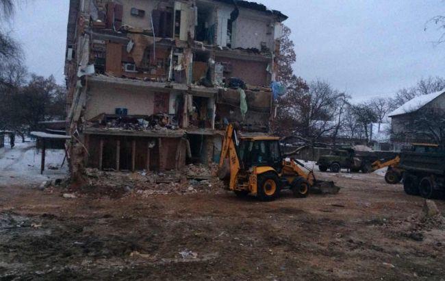 Фото: обвал общежития в Чернигове