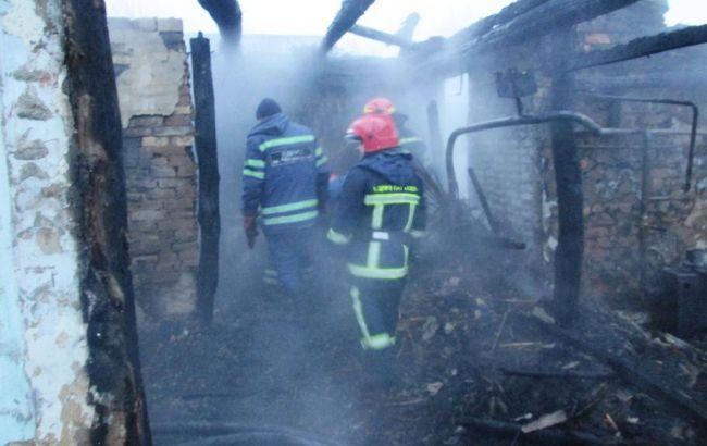 Фото: последствия пожара жилого дома в Черкасской области