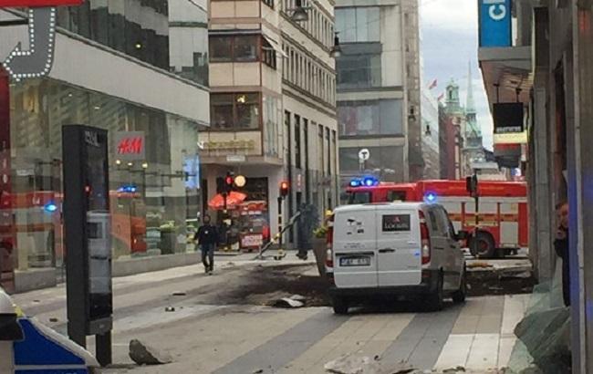 У Стокгольмі вантажівка в