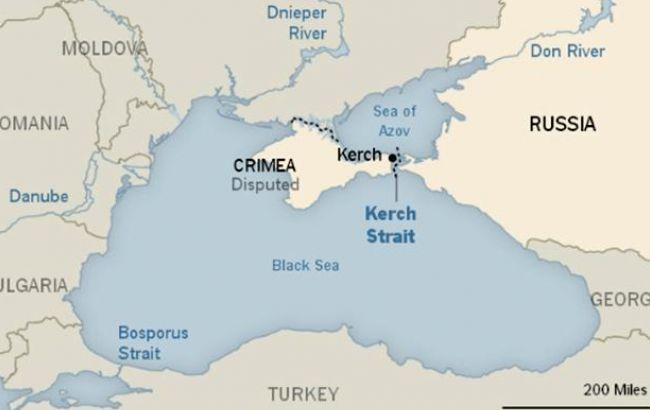 Фото: ошибка на карте с Крымом (The New York Times)
