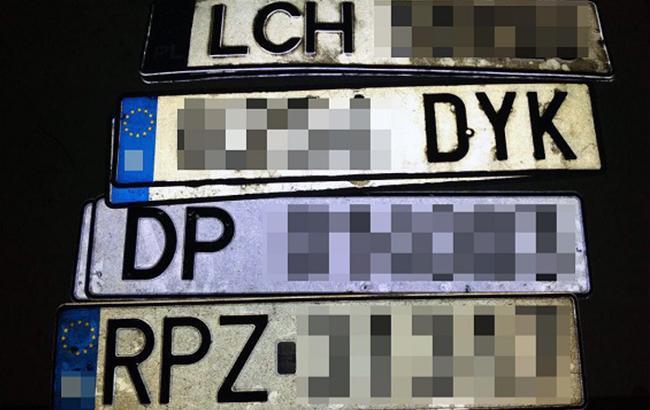 Фото: похищенные автомобильные номера (полиция Киева)