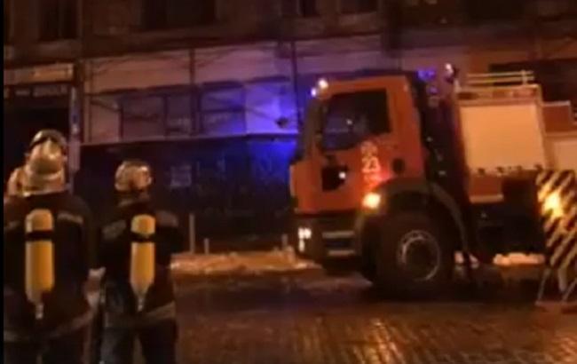 Фото: пожар на Театральной (скриншот с видео)
