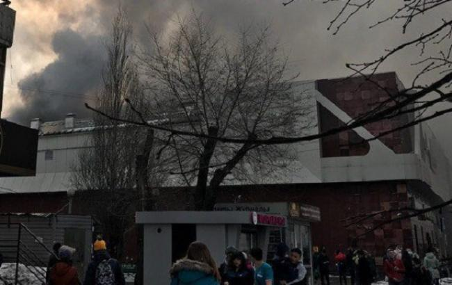 Фото: пожар в Кемераво (twitter.com/)