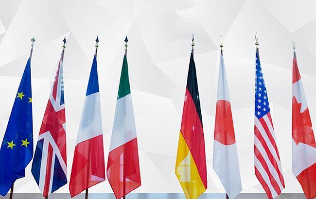 Ілюструєче фото: прапори країн-учасниць G7 (g7germany.de)