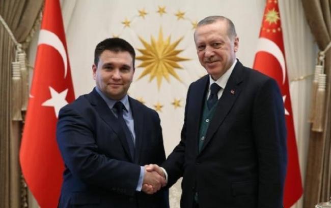 Клімкін обговорив з Ердоганом питання співпраці у звільненні ув'язнених