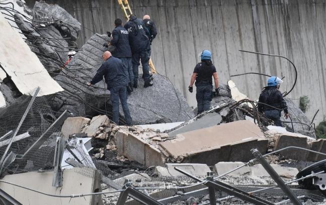 Число загиблих у результаті обвалу мосту в Генуї зросла до 35