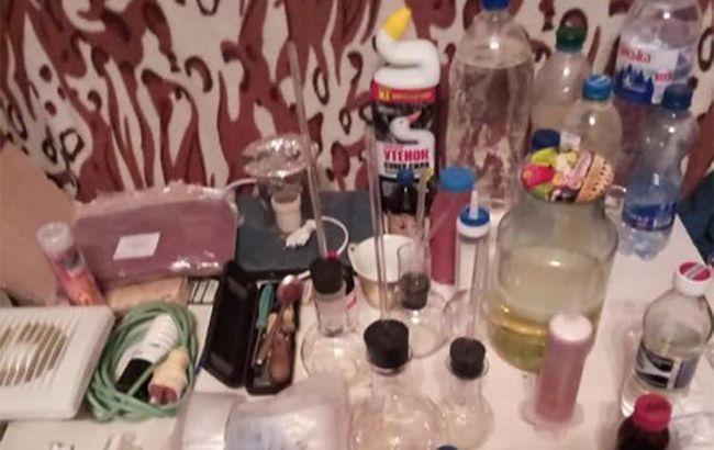 У Запорізькій області поліція ліквідувала лабораторію з виготовлення метамфетаміну