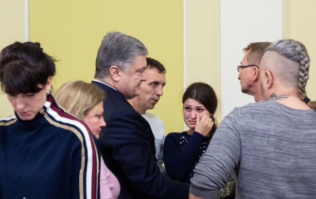 Президент встретился с семьями захваченных украинских моряков