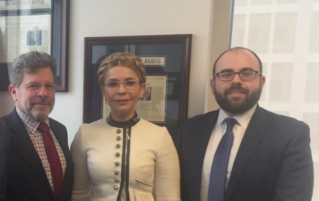Тимошенко встретилась с президентом Фонда защиты демократий