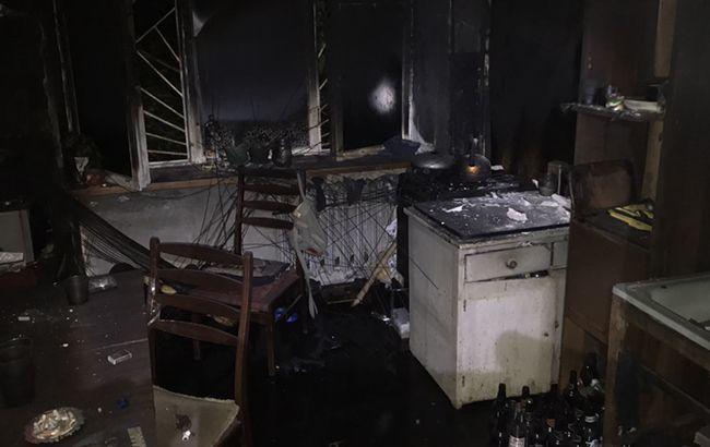 В Харькове произошел пожар в пятиэтажке, жителей эвакуировали