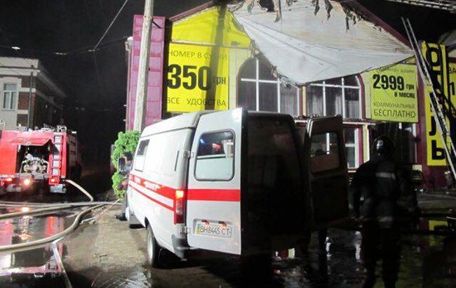 В Одесской обл. объявили траур по погибшим в пожаре в гостинице
