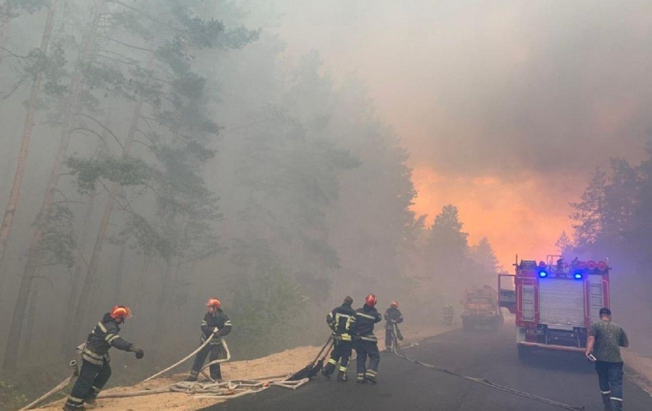 К тушению пожара в Луганской области привлекли 444 военных