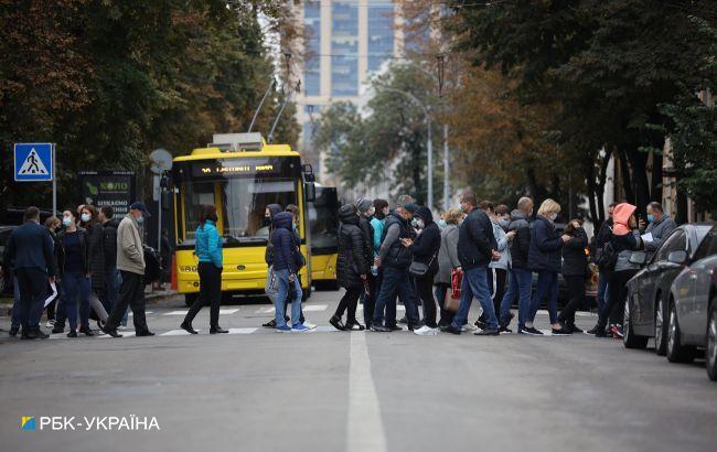 У Києві влаштували протест, перекрито рух транспорту