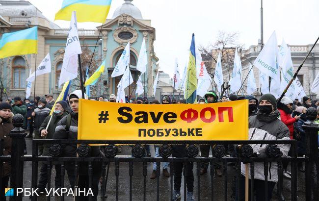 В центре Киева перекроют движение транспорта из-за протеста ФОПов