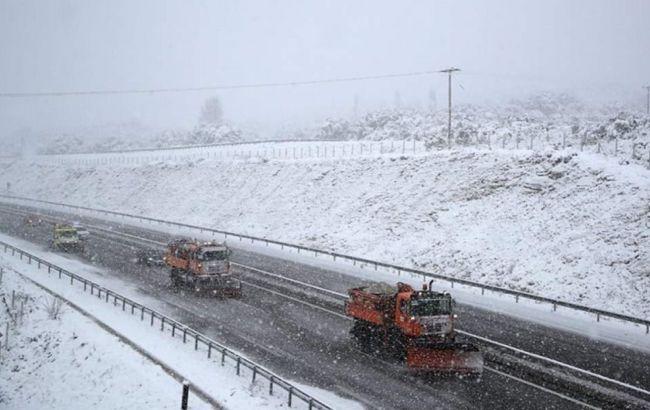 На Грецию обрушились сильные снегопады