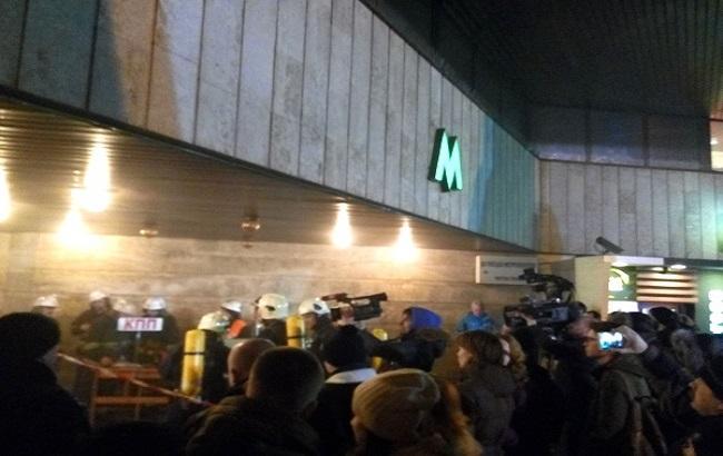 """ДСНС: на станції метро """"Льва Толстого"""" була пожежа у касовому залі"""