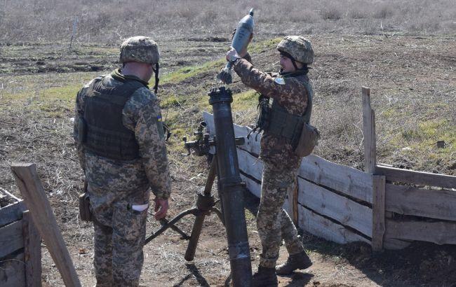 В районе ООС прошли учения минометчиков. Тренировались вести огонь