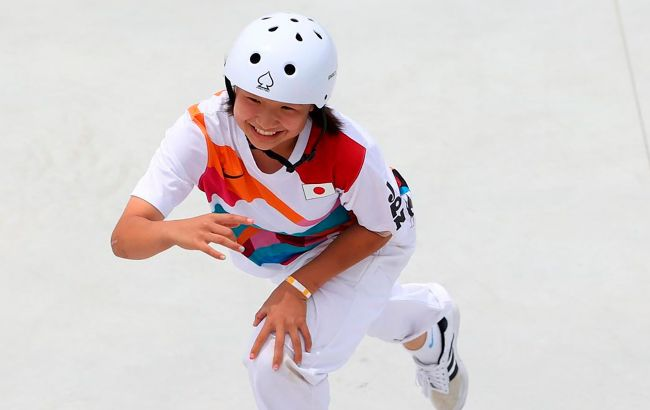 Перші в історії Олімпіади змагання зі скейтбордингу виграла 13-річна японка