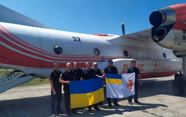 Украинские спасатели, тушившие пожары в Турции, вернулись домой