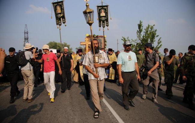Фото: крестный ход на Киев заблокирован полицией