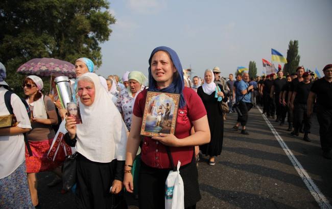 Фото: Крестный ход на Киев