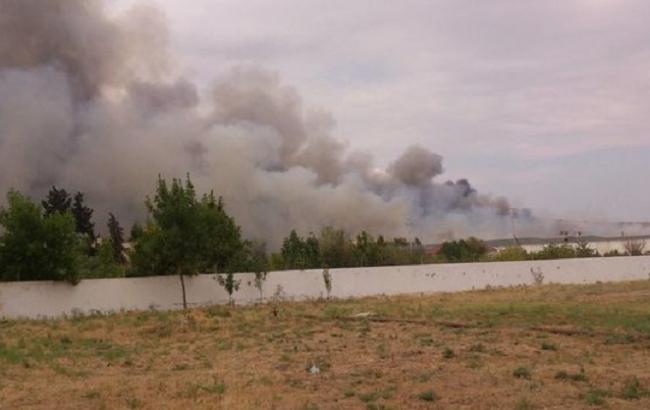 Фото: взрыв в Азербайджане